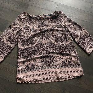 Cynthia Rowley Purple Tapestry Dress Top
